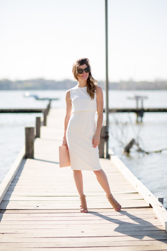 white midi dress easter sunday outfit