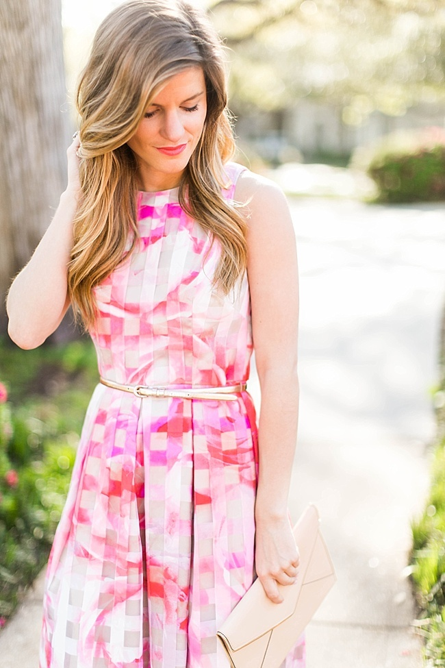 Brighton the day floral fit and flare dress for a simple spring outfit