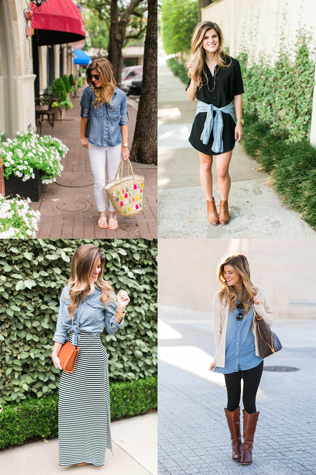 337c9cd8b2e How To Wear a Denim Shirt    13+ Ways to Style Chambray