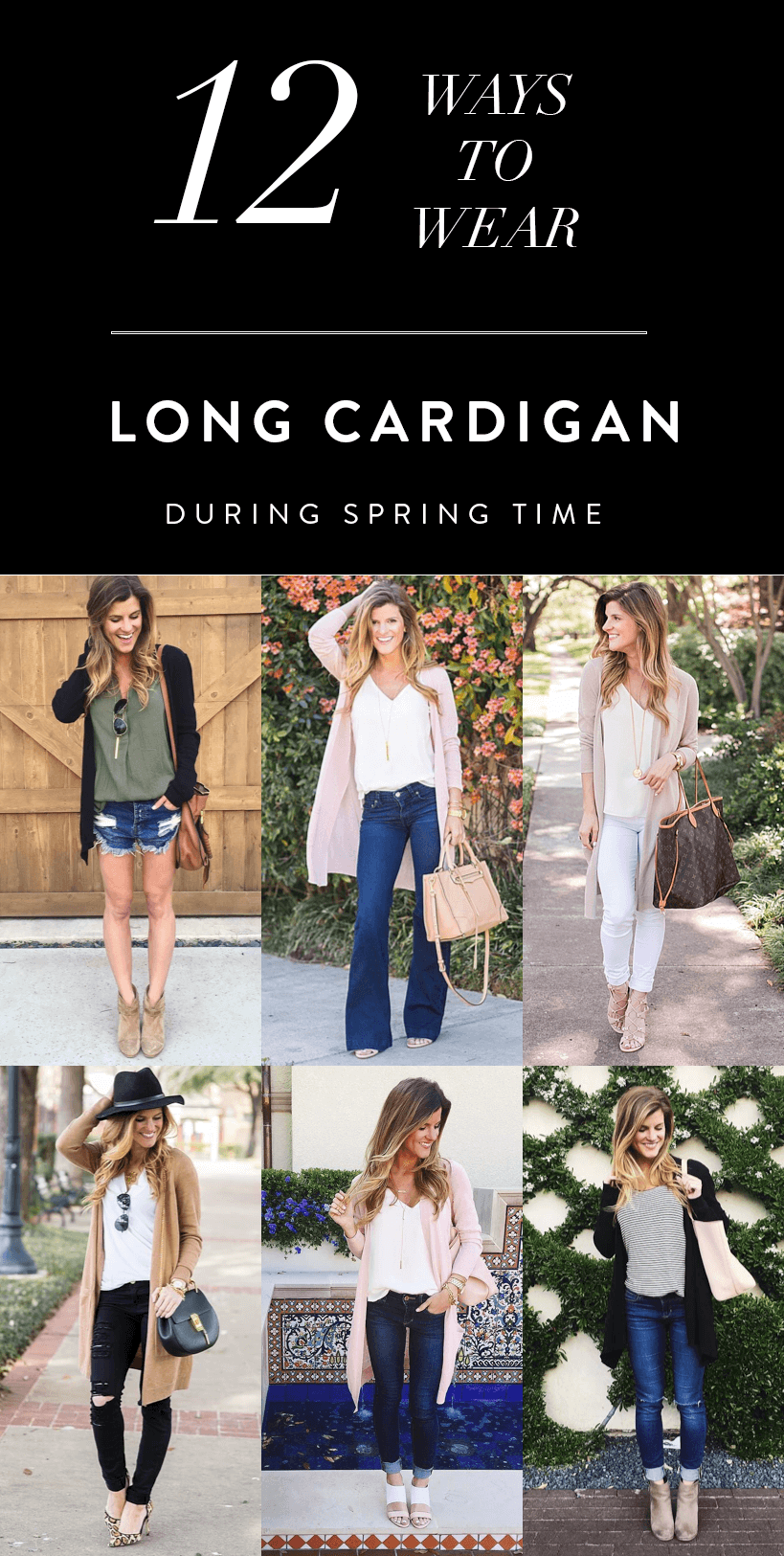 cardigan outfits // ways to wear a long cardigan sweater in spring