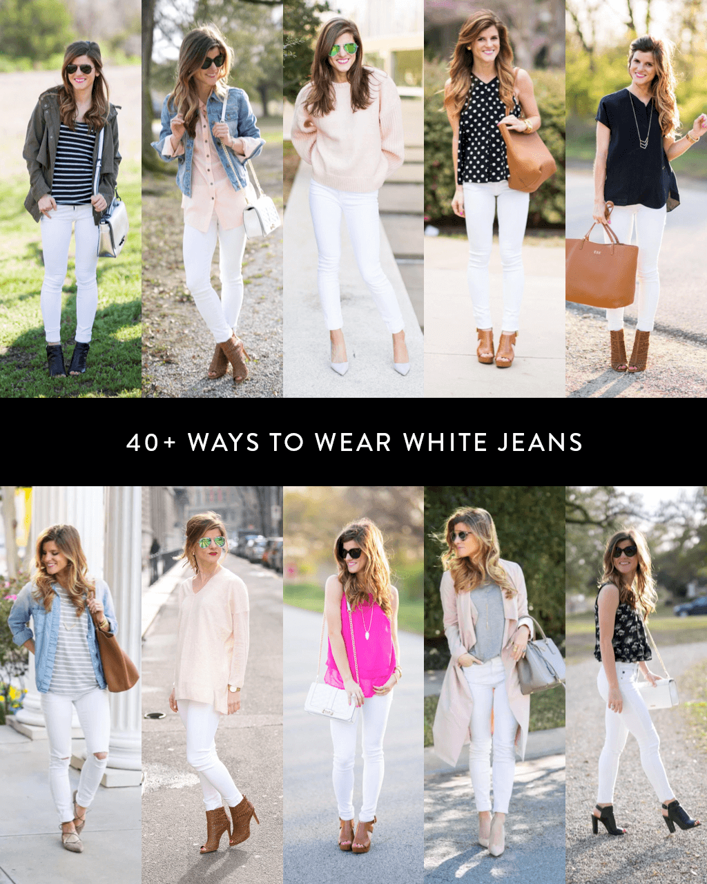 what to wear with white jeans, 40+ ways to wear white jeans, how to wear white jeans