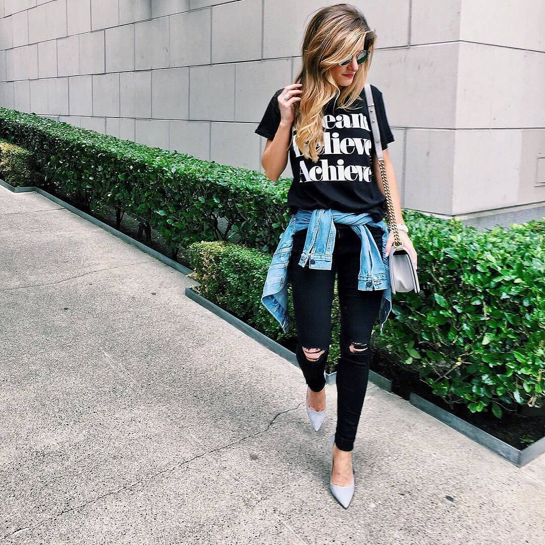 def56408f What to wear with black jeans - 30+ Black Jeans Outfit Ideas