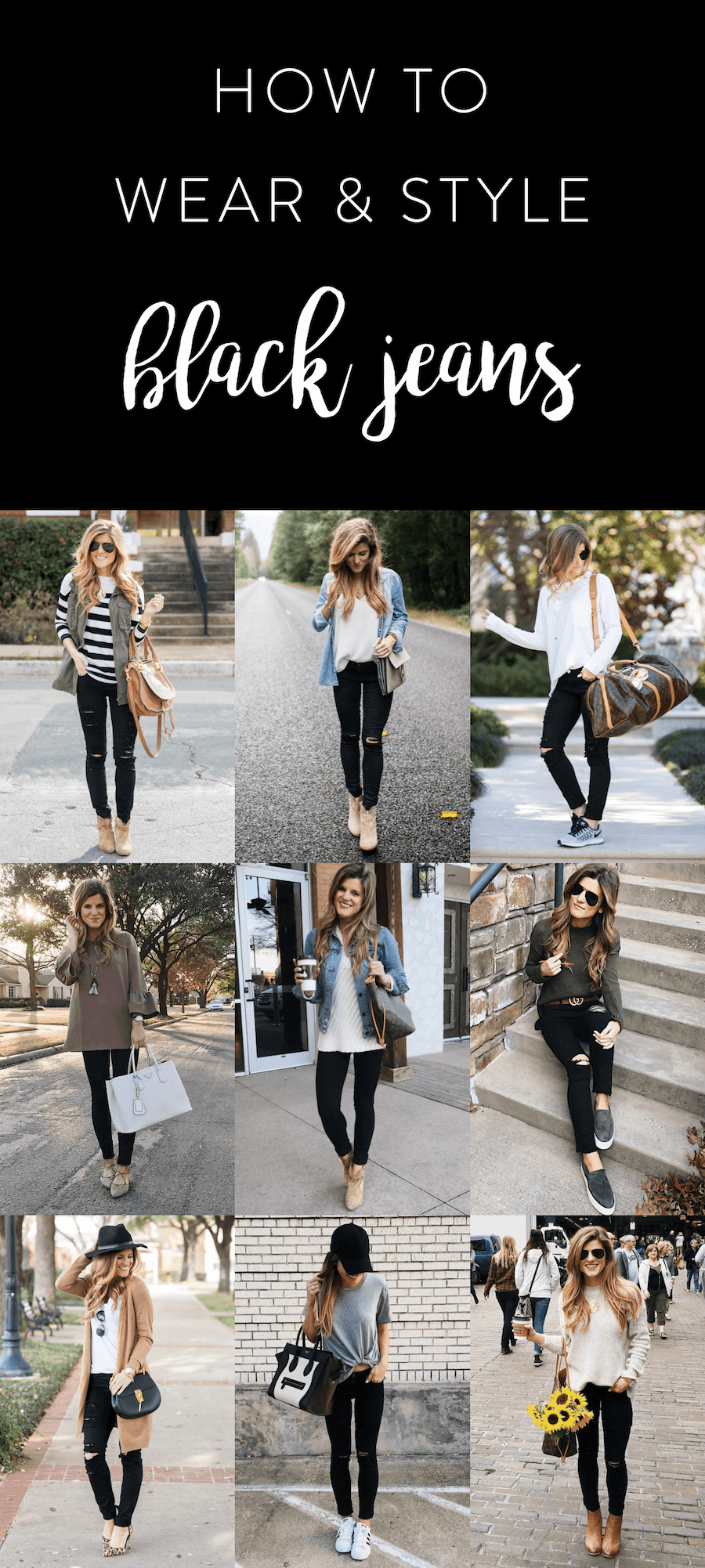 3fb4a66aa59 What to wear with black jeans - 30+ Black Jeans Outfit Ideas
