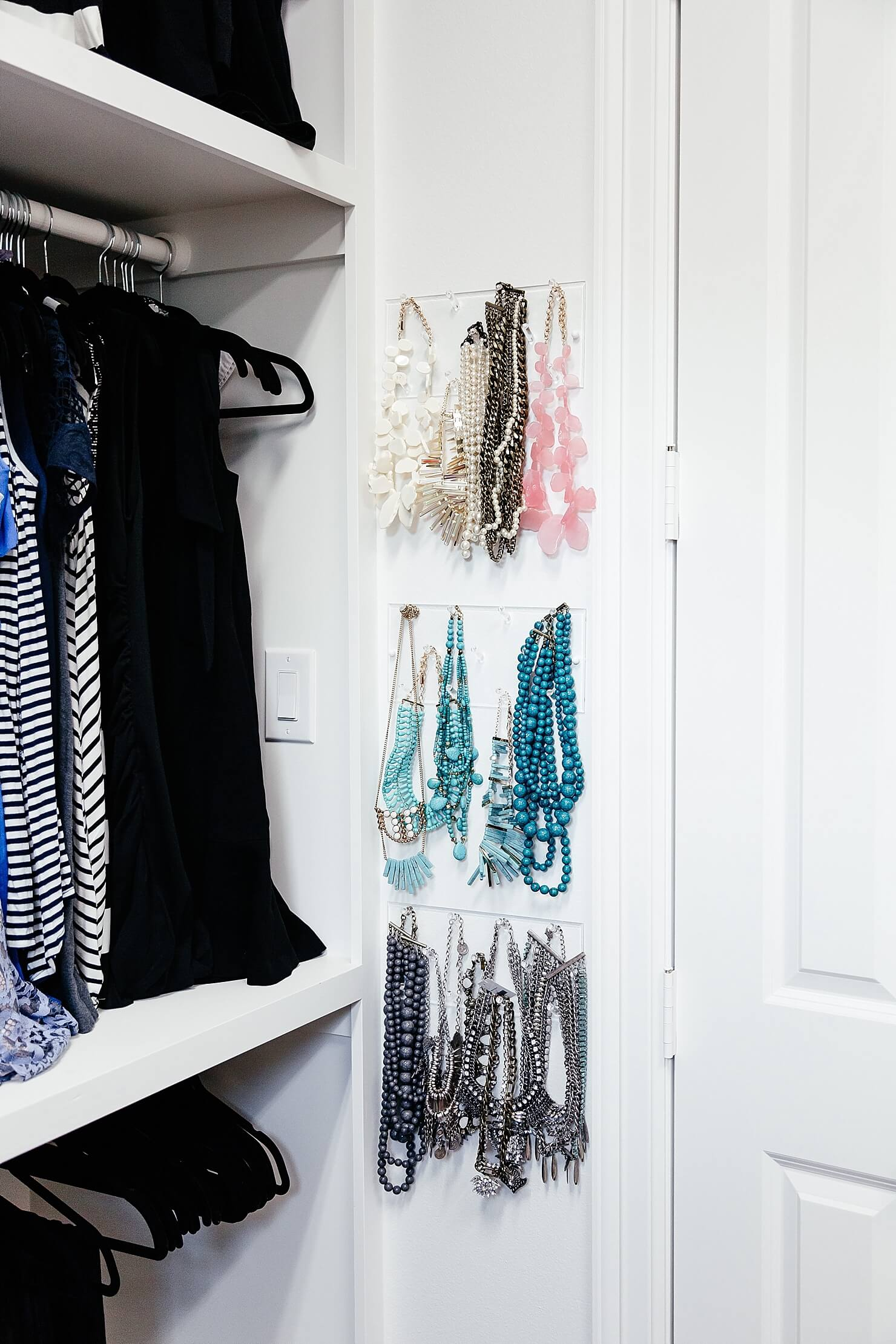 brighton keller new home closet reveal jewelry organization