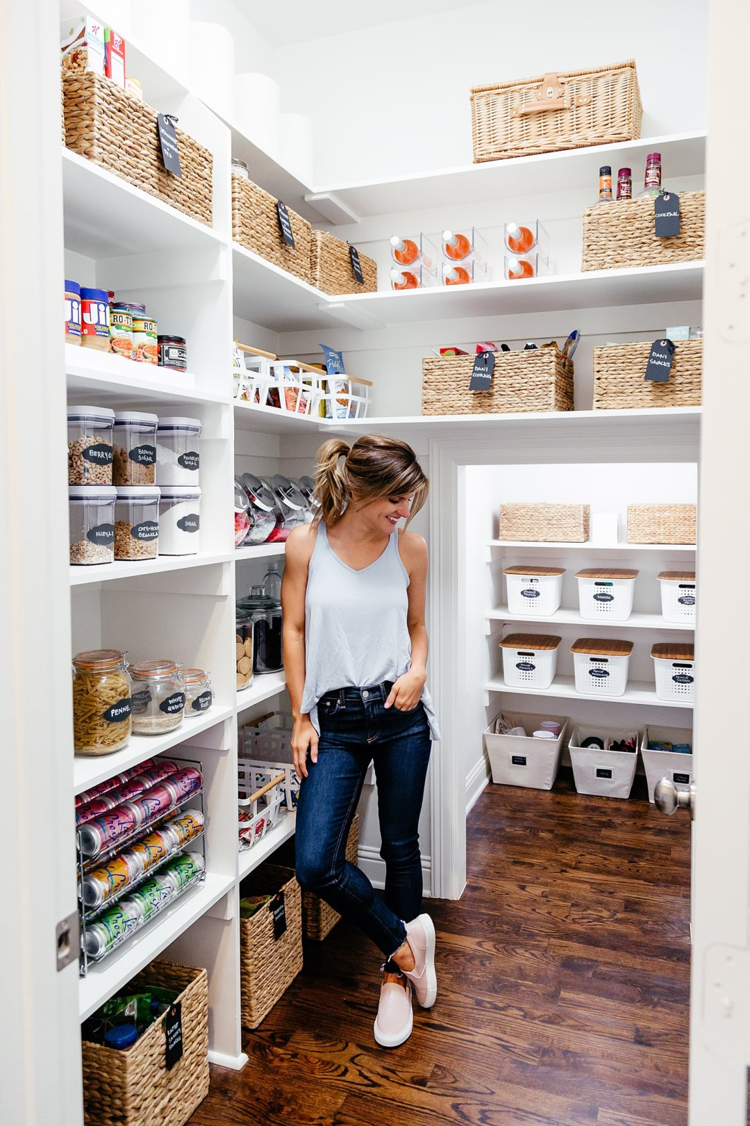 Kloe Kardashian Kitchen Organized Pantry