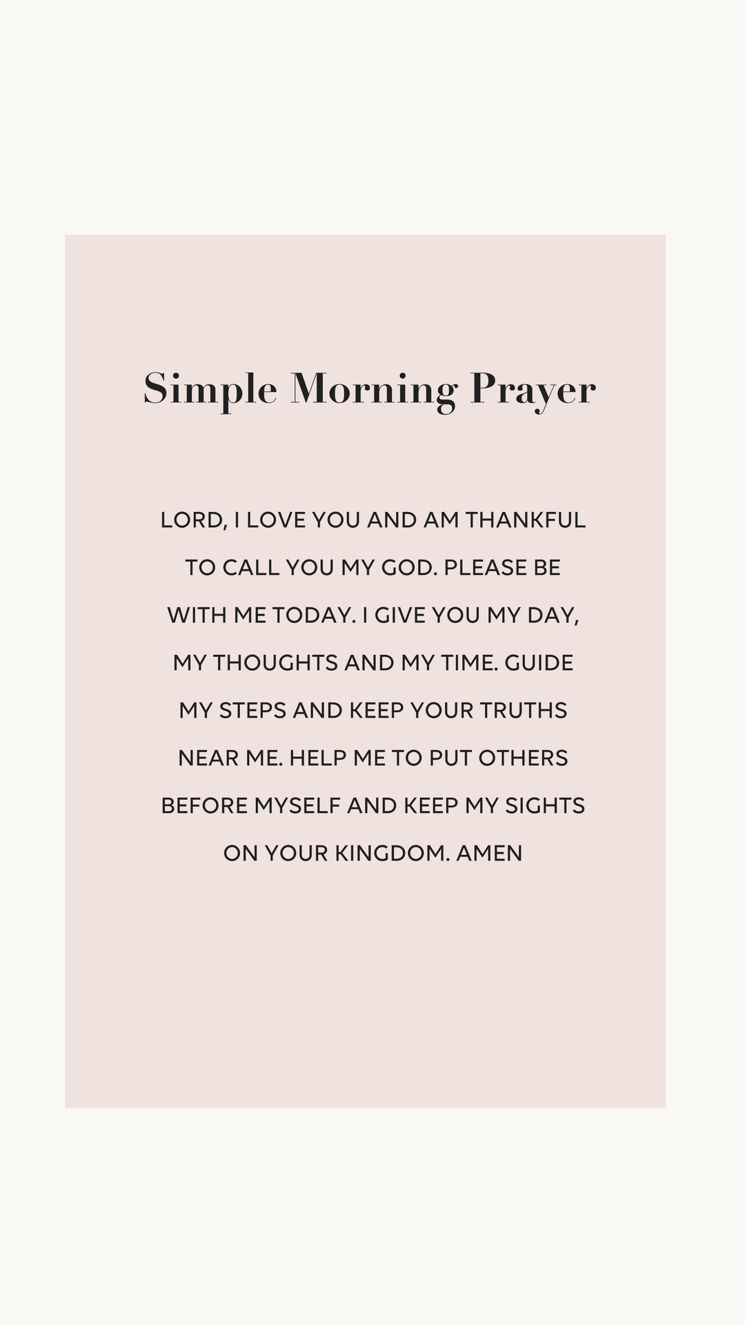 simple morning prayer  u2022 brightontheday