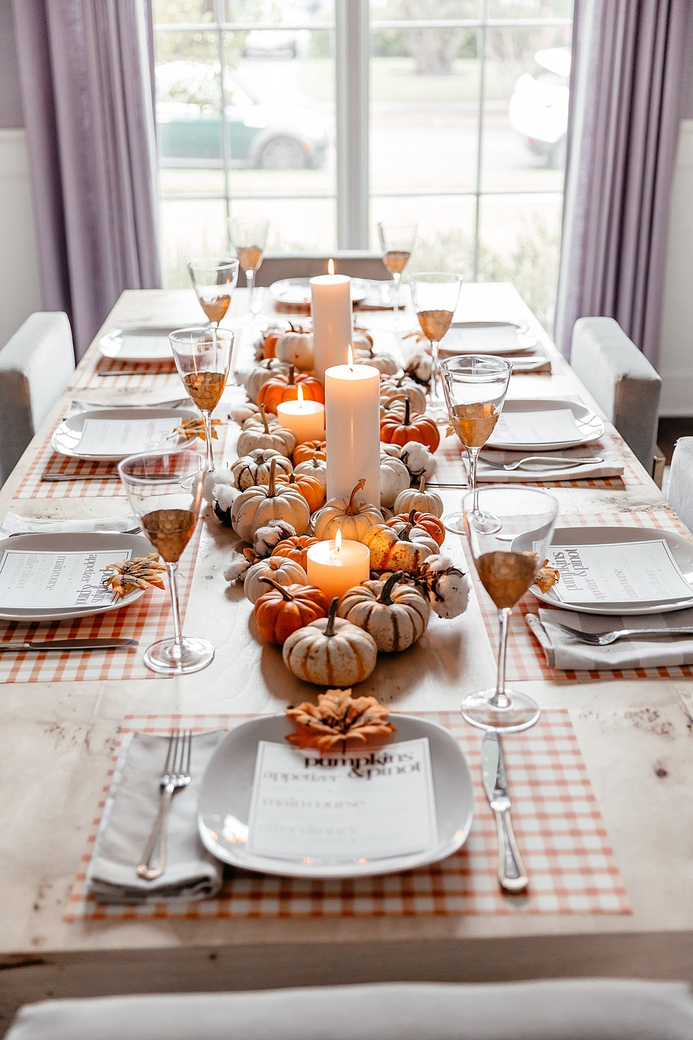 brighton keller dining room fall theme tablescape