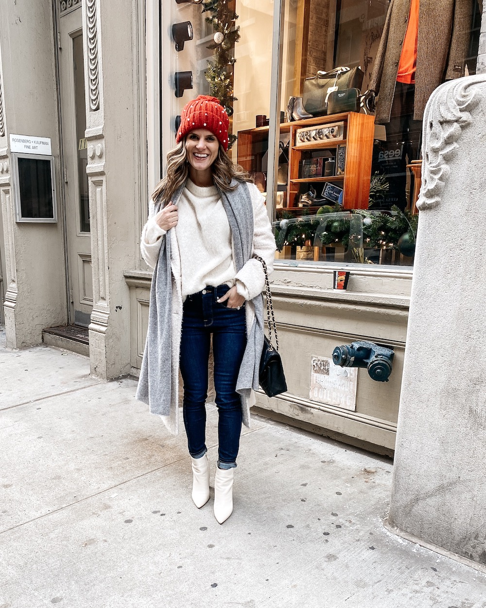 Coordinate Your Sweater and booties winter outfit