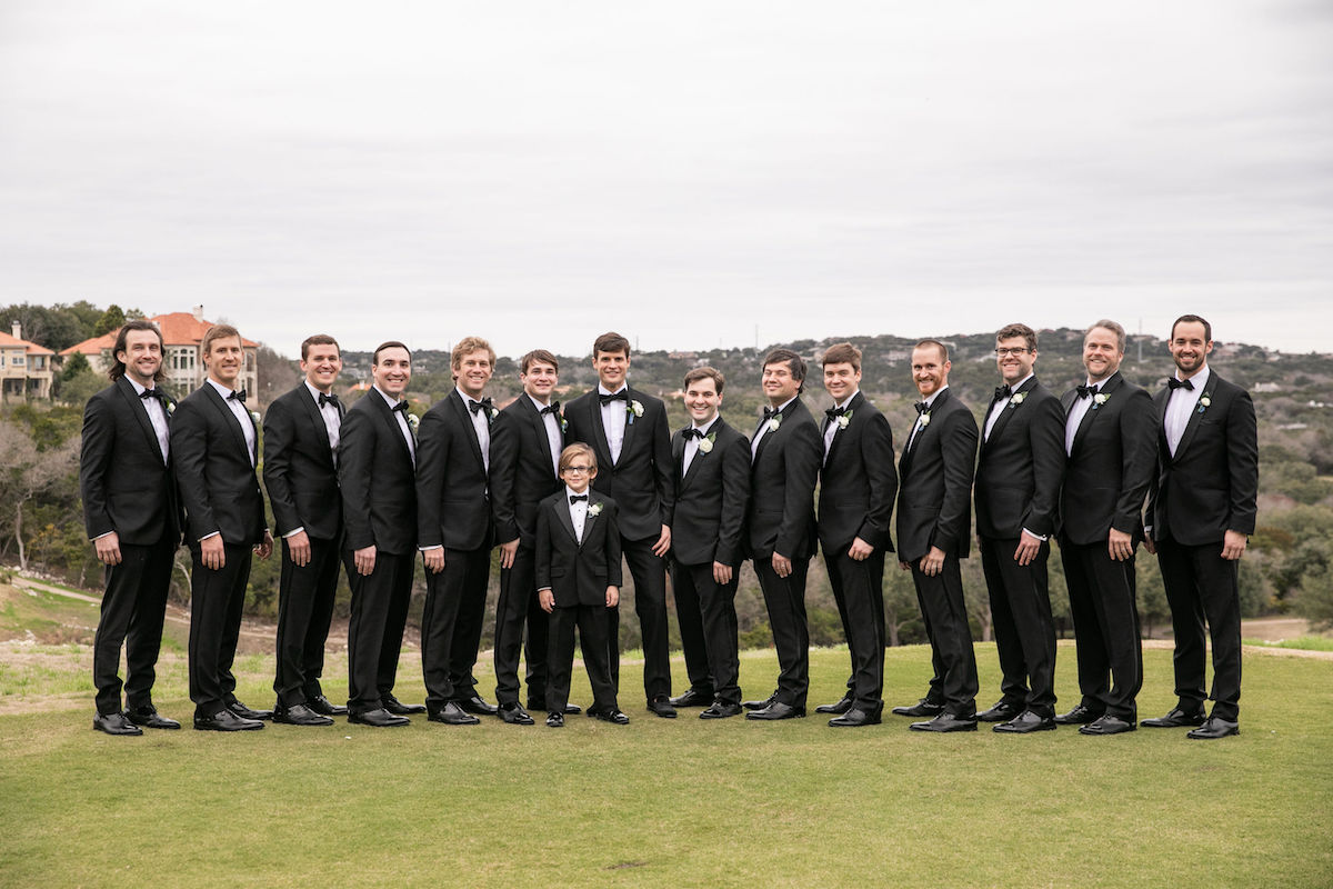 keller butler wedding groomsmen The Black Tux tuxedos shawl collar