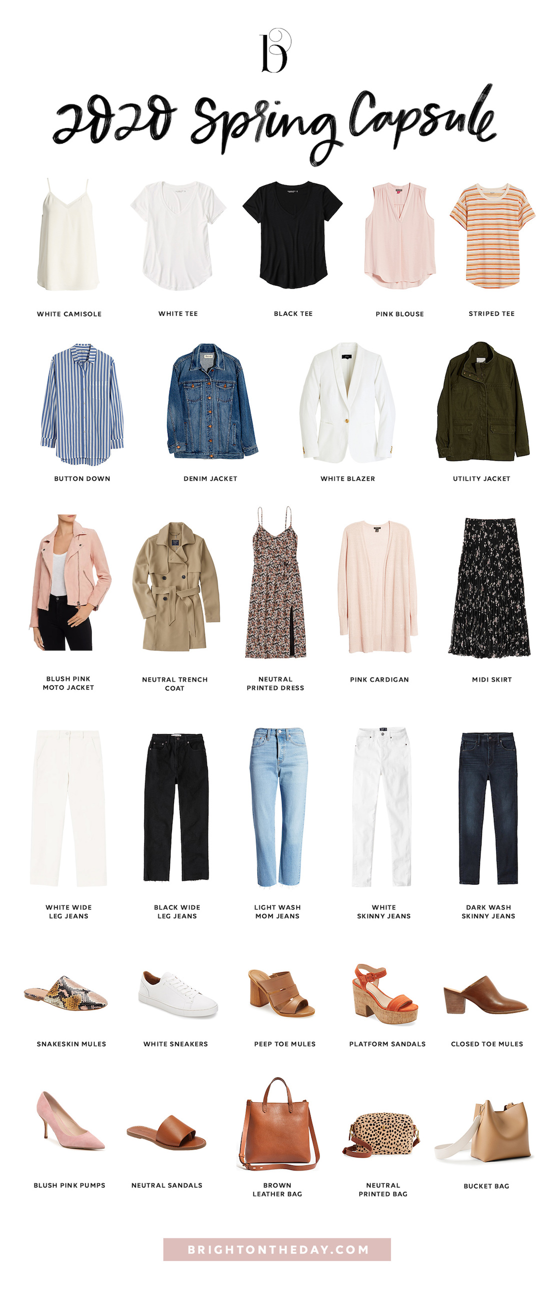 Spring 27 Capsule Wardrobe • BrightonTheDay