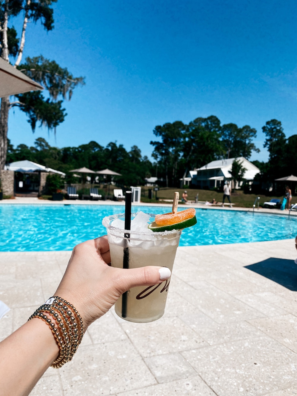spicy margarita from fore aft at the pool