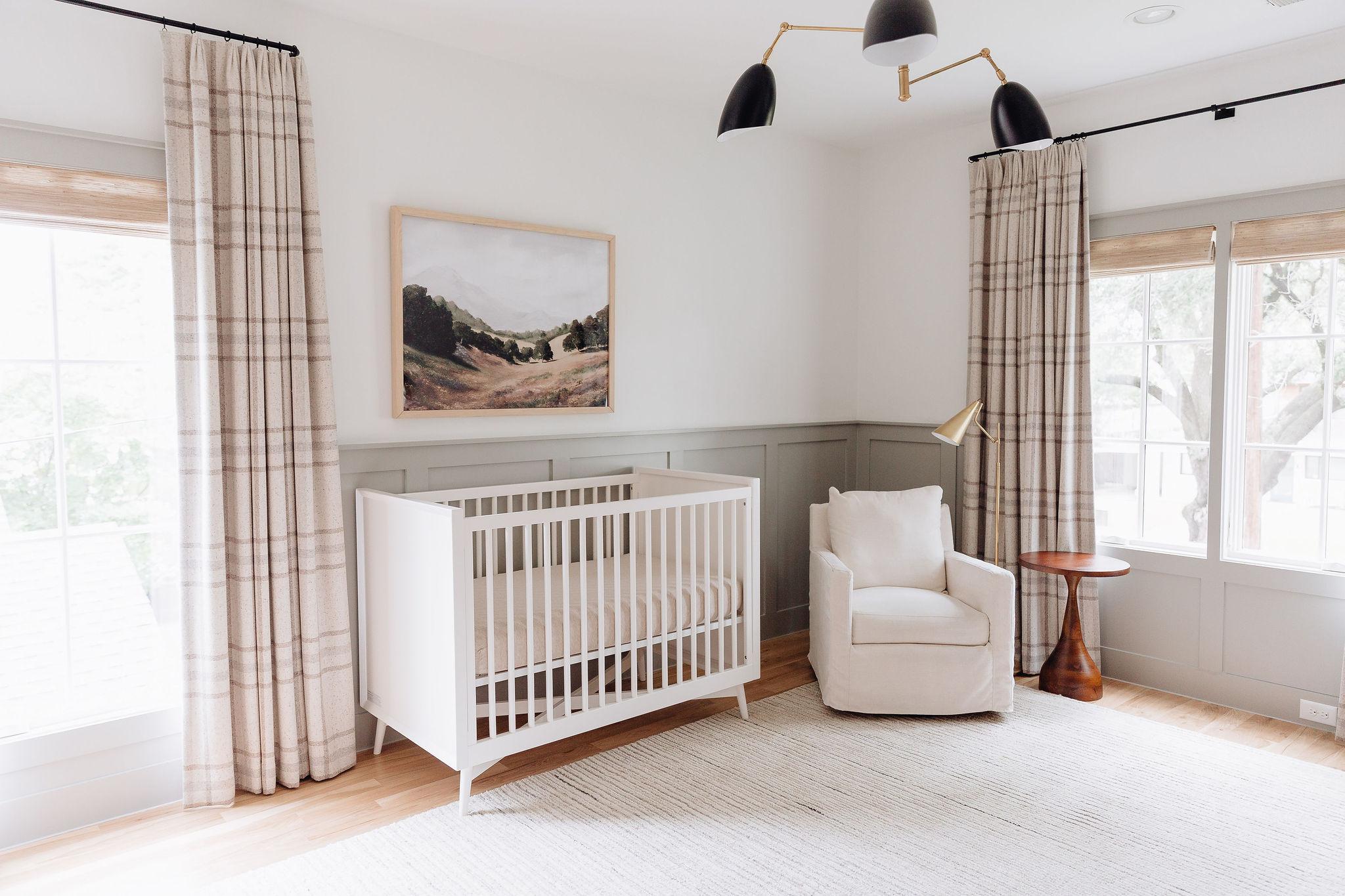 nursery, white crib
